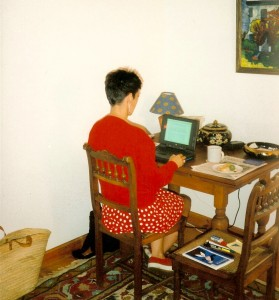 Here I am in 1996, writing The Weightless World too early