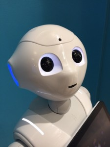 Pepper, the robot Softbank proposes as your companion - photographed by Rory Cellan-Jones at Innorobo this year