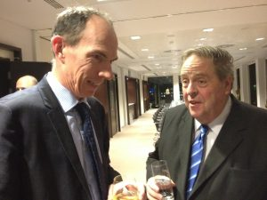 Peter with former pupil Sir Dave Ramsden in November 2012